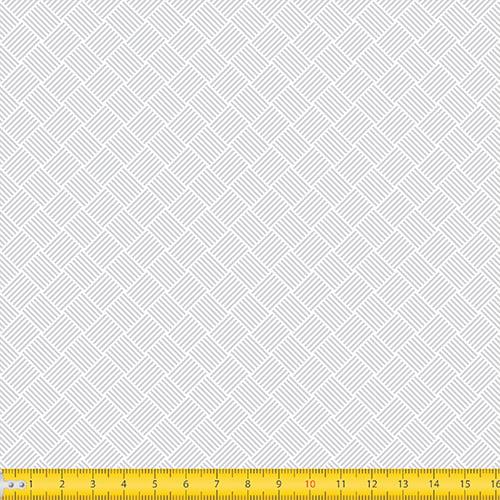 Tecido Tricoline Coleção Tramas - Cinza - 100% Algodão - Largura: 1,50m