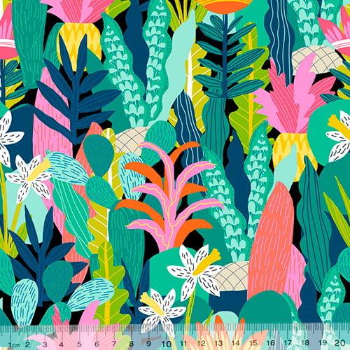 Tecido Tricoline Especial Amazon Garden - 100% Algodão - Largura 1,50m