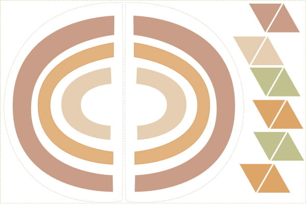 Tecido Tricoline Especial Coleção Fiapo de Pano Moldes - Painel/Tapete e Bandeirinhas - 100% Algodão - 1m x 1,50m
