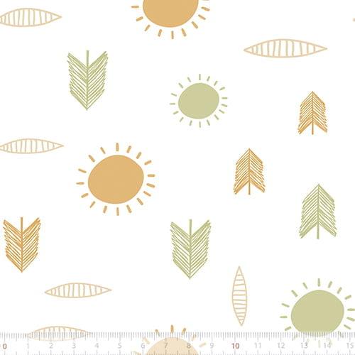 Tecido Tricoline Especial Coleção Fiapo de Pano - Raio de Sol - 100% Algodão - Largura 1,50m