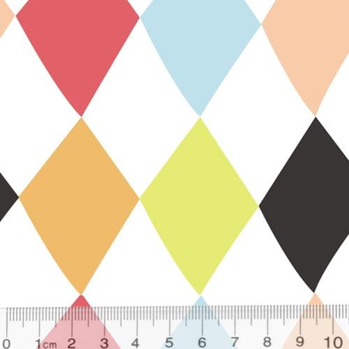 Tecido Tricoline Especial Coleção Pop Color - Losangos - 100% Algodão - Largura 1,50m