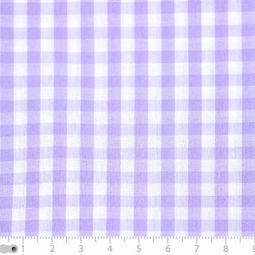 Tecido Tricoline Fio-Tinto Vichy Xadrez G - Lilás - 100% Algodão - Largura 1,50m