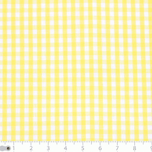 Tecido Tricoline Fio-Tinto Vichy Xadrez M - Amarelo - 100% Algodão - Largura 1,50m