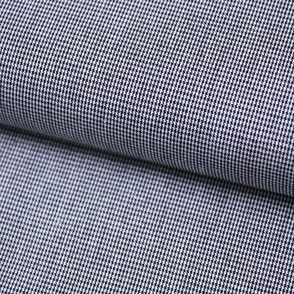 Tecido Tricoline Fio-Tinto Xadrez PP - Preto - 100% Algodão - Largura 1,50m