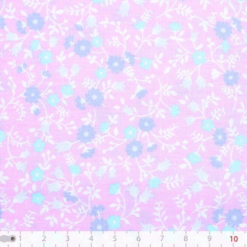 Tecido Tricoline Floral Liberty Mini - Majorelle - 100% Algodão - Largura: 1,50m