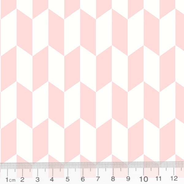Tecido Tricoline Geometria Design Arrow - Rosa - 100% Algodão - Largura 1,50m