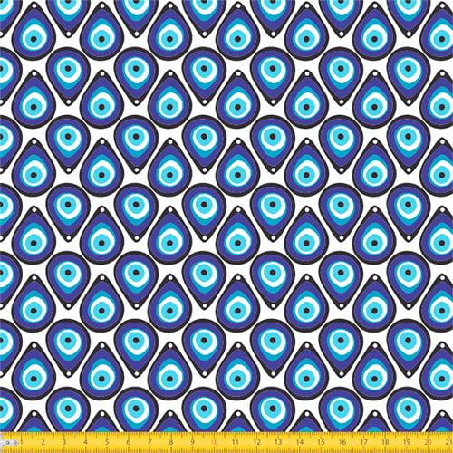Tecido Tricoline Olho Grego - 100% Algodão - Largura: 1,50m