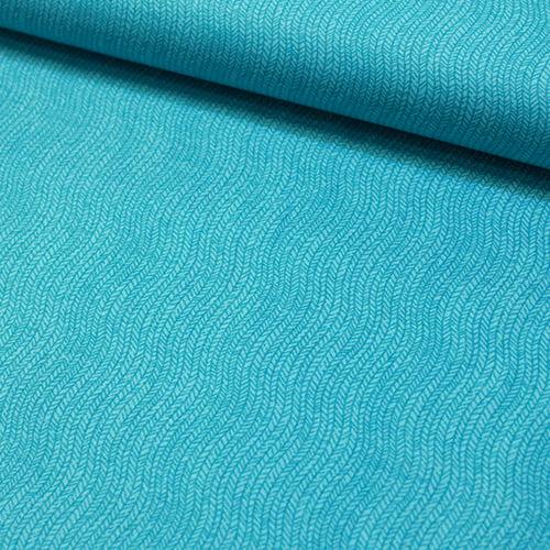 Tecido Tricoline Ondas Formas - Turquesa - 100% Algodão - Largura 1,50m