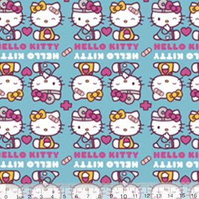Tecido Tricoline Personagens F. Maluhy - Hello Kitty Be Carefull - 100% Algodão - Largura 1,50m