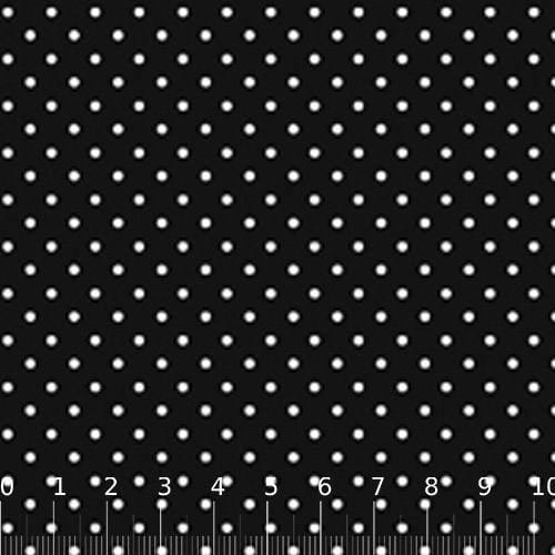 Tecido Tricoline SG Poá M - Fundo Preto c/ Branco - 100% Algodão - Largura 1,50m