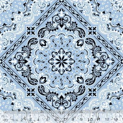 Tricoline Bandana Style - Azul Claro