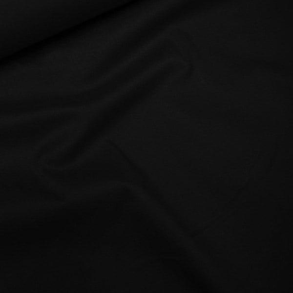 Tecido Tricoline Com Elastano Lisa - Preto