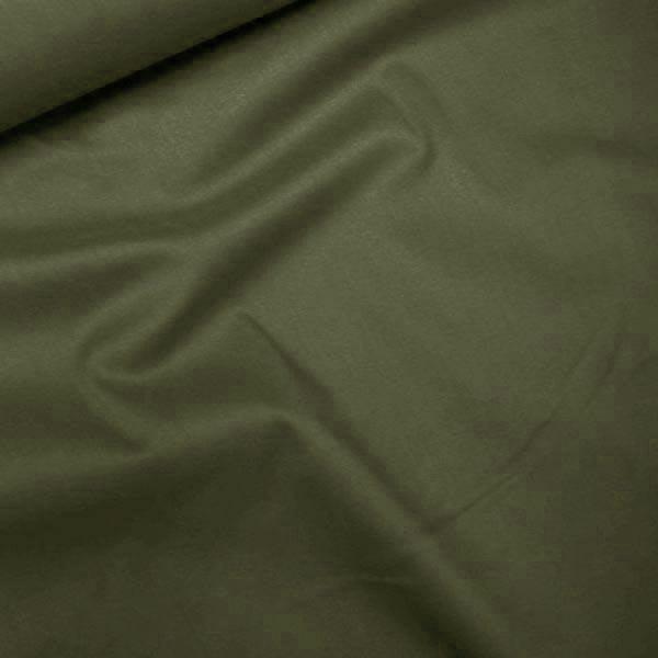 Tecido Tricoline Com Elastano Lisa - Verde Oliva