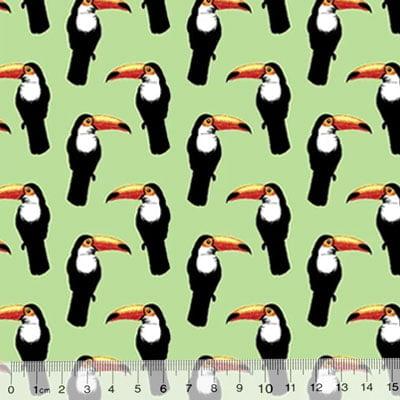 Tricoline Des. Tucanos - Fundo Verde