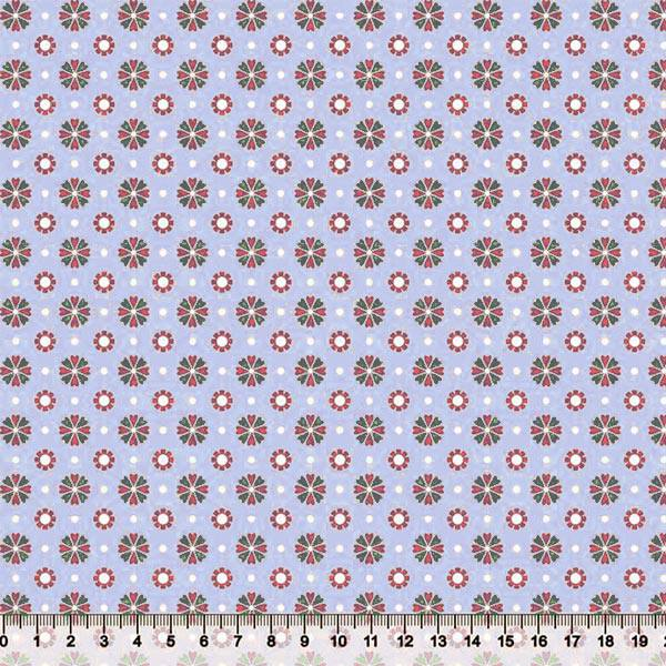 Tecido Tricoline Floral Bem Me Quer 4 - 100% Algodão - Largura 1,50m