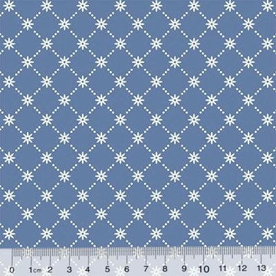 Tecido Tricoline Garden Unity - Mini Flor - Azul Antigo (Largura: 1,50 m)