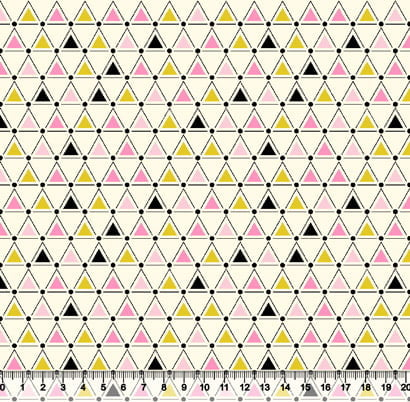 Tricoline Geométricos Triângulos - Rosa