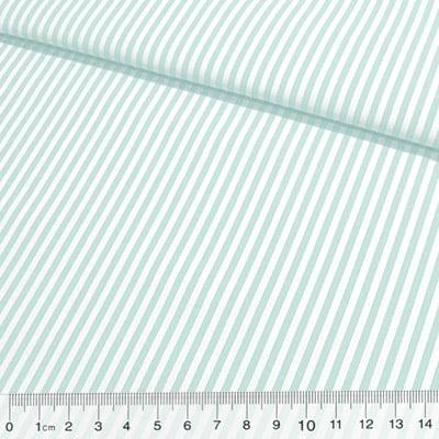 Tecido Tricoline Fio-Tinto Listras M - Acqua - 100% Algodão - Largura 1,50m