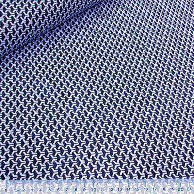 Tecido Tricoline Mista Pop Textoleen Dimensional - Azul - 50% Algodão 50% Poliéster - Largura 1,38m