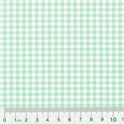 Tecido Tricoline Mista Pop Textoleen Xadrez Verde Claro - 50% Algodão 50% Poliéster - Largura 1,38m