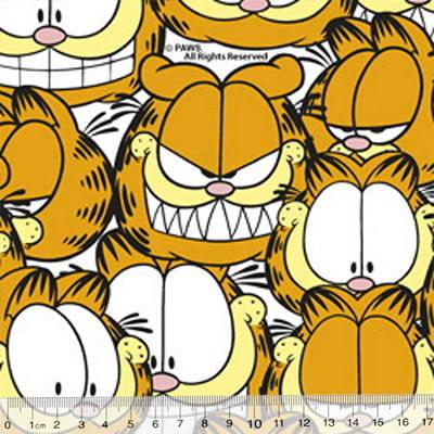 Tecido Tricoline Personagens F. Maluhy - Garfield Selfies - 100% Algodão - Largura 1,50m