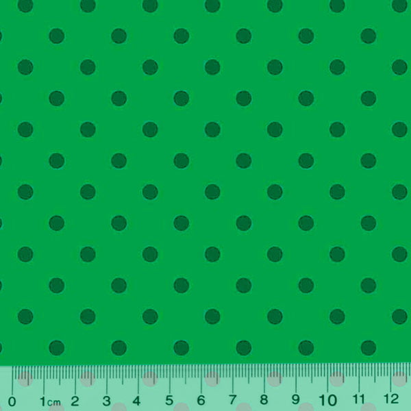 Tricoline Poá Dots - Fundo Verde Tons