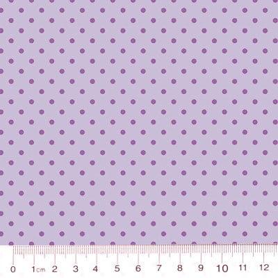 Tecido Tricoline Poá M - Fundo Lilás Tons - 100% Algodão - Largura 1,50m
