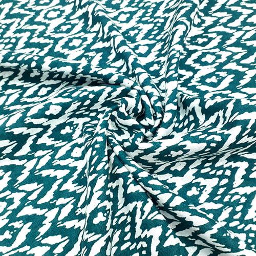 Tecido Viscose Light Estampada - Abstrato Verde - Ref 06 - 100% Viscose - Largura 1,40m