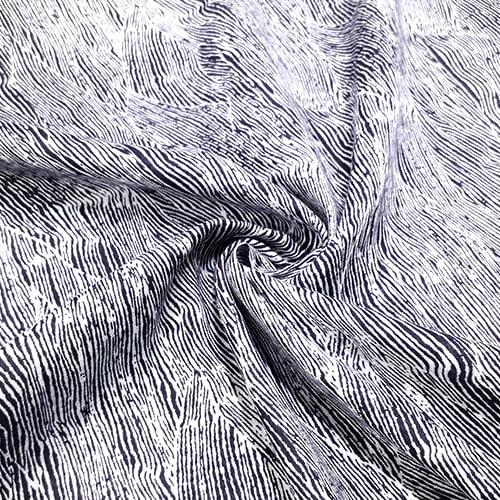 Tecido Viscose Light Estampada - Black Veins - Ref 38 - 100% Viscose - Largura 1,40m
