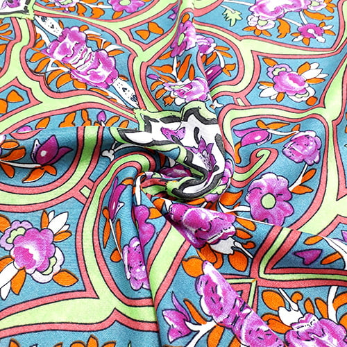 Tecido Viscose Light Estampada - Color Wall - Ref 37 - 100% Viscose - Largura 1,40m