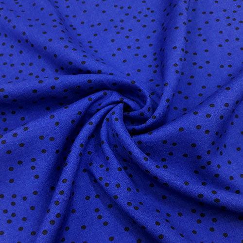 Tecido Viscose Light Estampada - Dots Azul - Ref 18 - 100% Viscose - Largura 1,40m