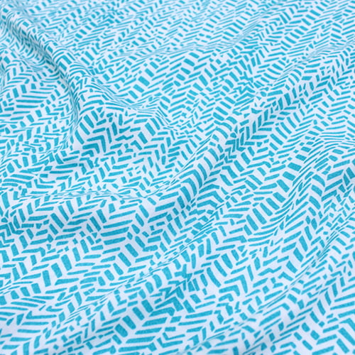Tecido Viscose Light Estampada - Trill Azul - Ref 48 - 100% Viscose - Largura 1,40m