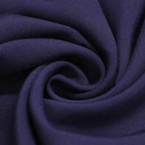 Tecido Viscose Lisa Lual -  Azul Dark - 100% Viscose - Largura 1,45m