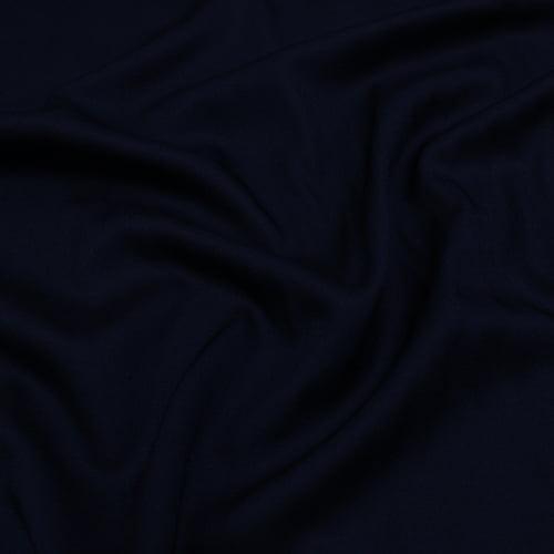 Tecido Viscose Lisa Lual - Azul Marinho Noite - 100% Viscose - Largura 1,45m