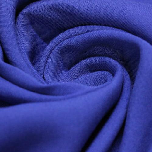 Tecido Viscose Lisa Lual -  Azul Royal - 100% Viscose - Largura 1,45m