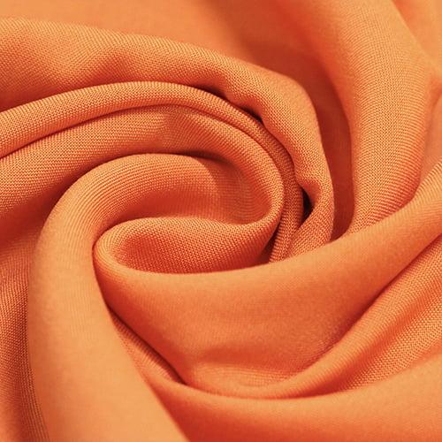 Tecido Viscose Lisa Lual - Laranja - 100% Viscose - Largura 1,45m