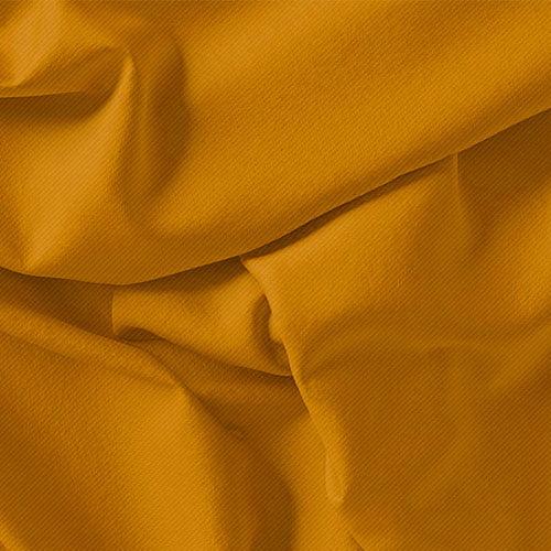 Tecido Viscose Lisa Sarjada Premium - Amarelo Gema - 100% Viscose - Largura 1,45m