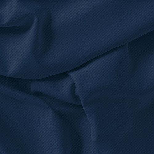 Tecido Viscose Lisa Sarjada Premium - Azul Escuro - 100% Viscose - Largura 1,45m