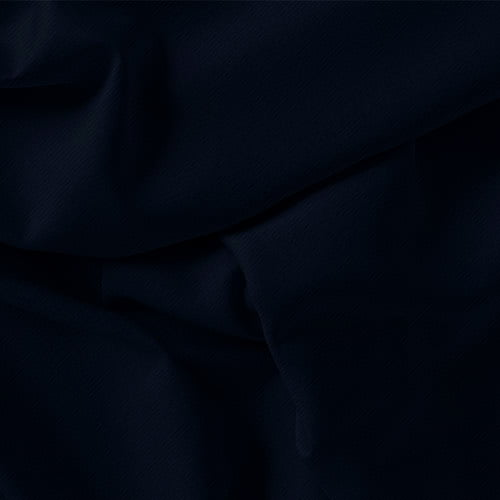 Tecido Viscose Lisa Sarjada Premium - Azul Marinho Noite - 100% Viscose - Largura 1,45m