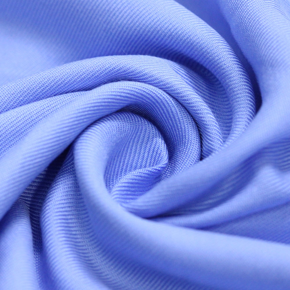 Tecido Viscose Lisa Sarjada Premium - Azul Céu - 100% Viscose - Largura 1,45m