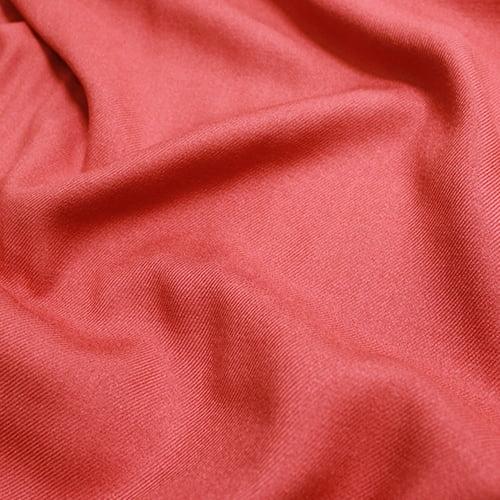 Tecido Viscose Lisa Sarjada Premium - Laranja Barro - 100% Viscose - Largura 1,45m