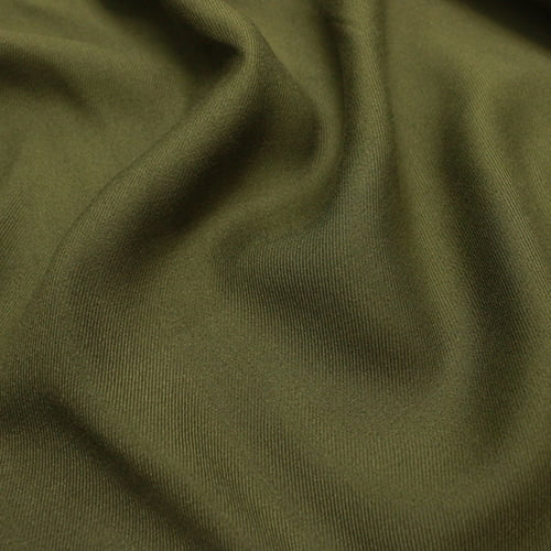 Tecido Viscose Lisa Sarjada Premium - Verde Oliva - 100% Viscose - Largura 1,45m
